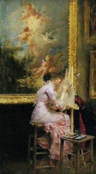 Dagnon_Bouveret_Pascal_Adolphe_Jean_Lartistic_Musee_1881_Oil_on_Panel-large