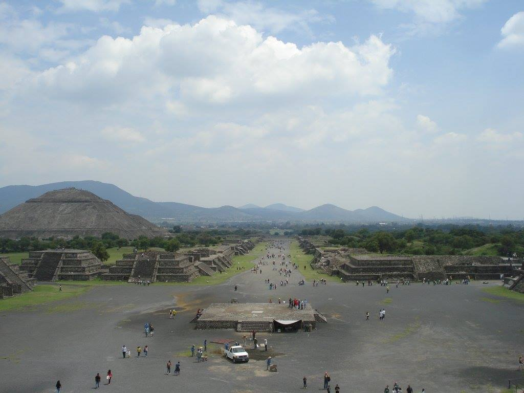 View of the Avenue of the Dead from the Pyramid of the Moon.