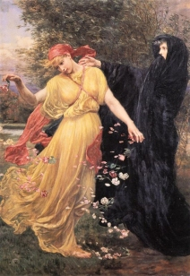 At the First Touch of Winter, Summer Fades Away - Valentine Cameron Prinsep
